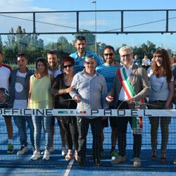 Group photo Italian Padel and Officine del Padel