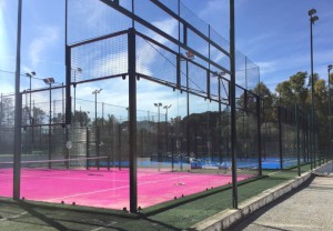 Panoramic Field with Pink Carpet, Pink Padel Club, Rome