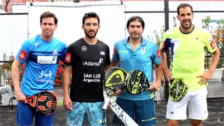 Paddle 2016 international players from Rome: (from left) Paquito Navarro, Sanyo Gutiérrez, Cristián Gutiérrez, Juan Martin Diaz.