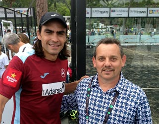 Juani Mieres (left) e Claudio Galuppini (Forgiafer) in the international padel 2016 camps in Rome made by Italian Padel and Officine del Padel.