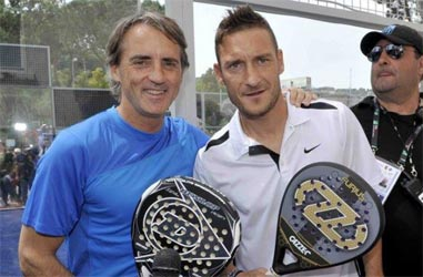 Totti and Mancini - two great Padel fans.